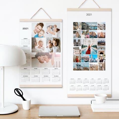 Calendari poster da parete annuali 1 foglio - personal, collage, gira&volta, fogli staccabili